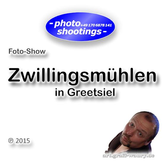 Foto-Show: Zwillingsmühlen in Greetsiel