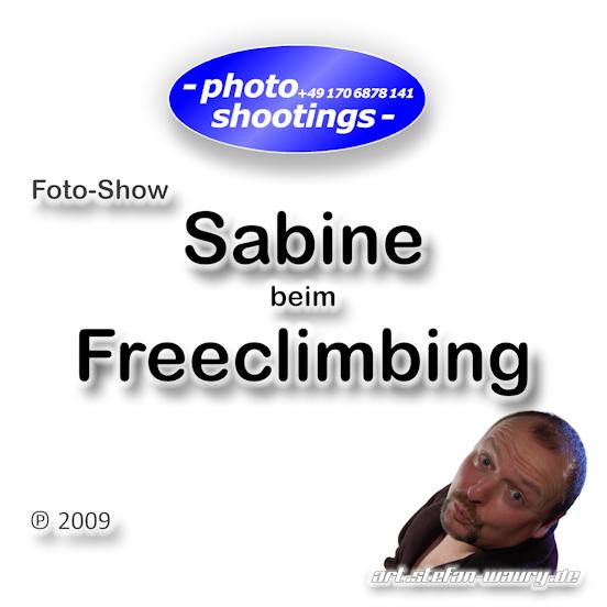 Foto-Show: Sabine beim Freeclimbing